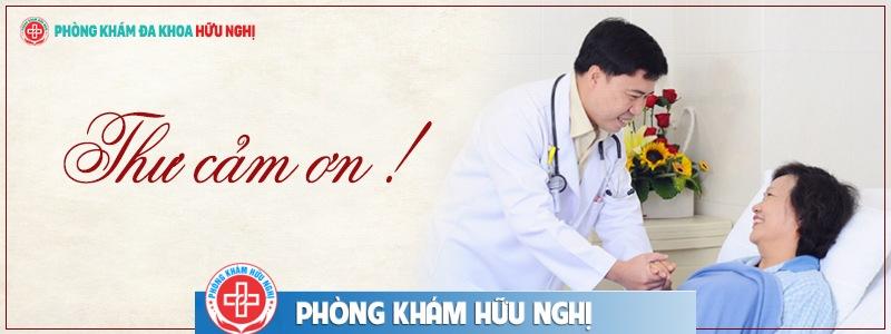 Thư Cảm Ơn từ Ban lãnh đạo phòng khám đa khoa Hữu Nghị.
