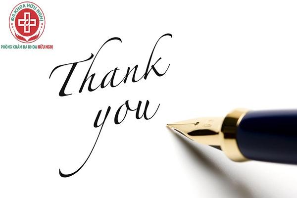 Thư cảm ơn của bệnh nhân được hỗ trợ điều trị xuất tinh sớm