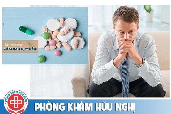 Viêm bao quy đầu dùng thuốc chữa được không?